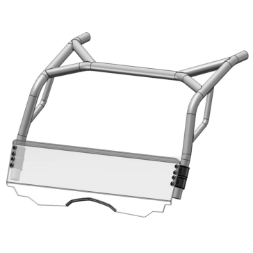 Direction 2 Full Windshield Front - CFMoto - MR10 Lexan Polycarbonate