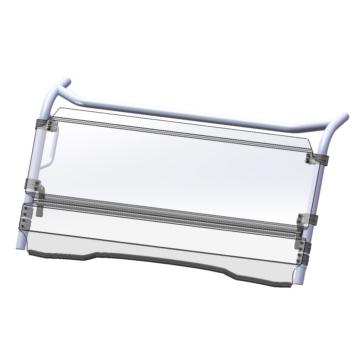 Direction 2 Pare-brise inclinable Avant - Kawasaki - Polycarbonate de lexan MR10
