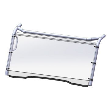 Direction 2 Fixed Windshield Front - Kawasaki - Lexan Polycarbonate