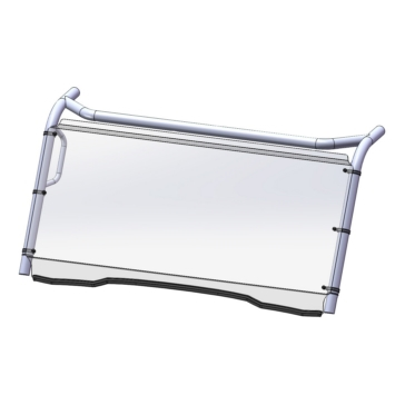 Direction 2 Fixed Windshield GP Front - Kawasaki - Lexan Polycarbonate