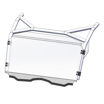 Direction 2 Fixed Windshield Front - CFMoto - Lexan Polycarbonate