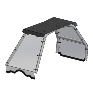 Direction 2 Windshield with Roof Polaris