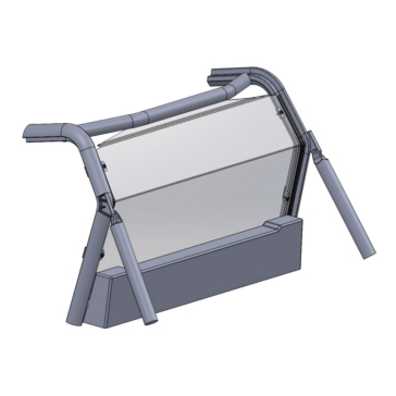 Direction 2 Rear Windshield Rear - Can-am - Lexan Polycarbonate