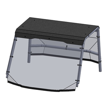 Direction 2 Windshield with Roof - Scratch Resistant Fits Polaris