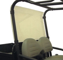 Direction 2 Rear Windshield Rear - ClubCar XRT - Lexan Polycarbonate