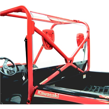 Direction 2 Rear Windshield & Back Panel Combo - Scratch Resistant Fits Kawasaki