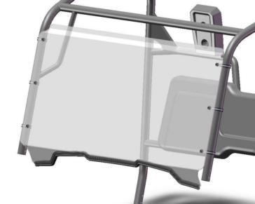 Direction 2 Pare-brise complet Avant - Honda - Polycarbonate de lexan MR10