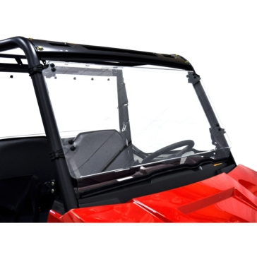 Direction 2 Complete Full Tilt Windshield Front - Polaris - Lexan Polycarbonate