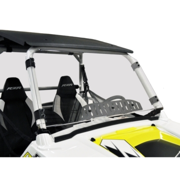 Direction 2 Complete Foldable Full Windshield Front - Polaris - Lexan Polycarbonate