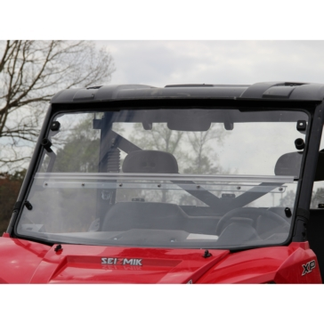SEIZMIK Versa-Fold Windshield for Ranger Full Size H-C Poly Front - Polaris - Polycarbonate