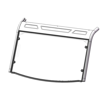 Direction 2 Fixed Windshield GP Front - Polaris - Lexan Polycarbonate