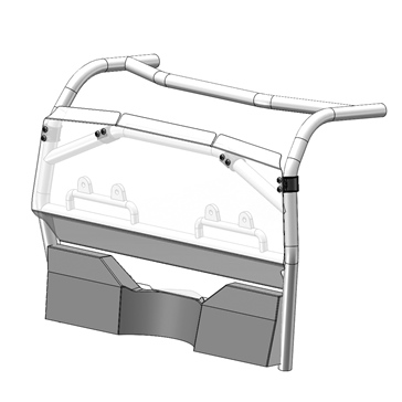 Direction 2 Rear Windshield Fits CFMoto