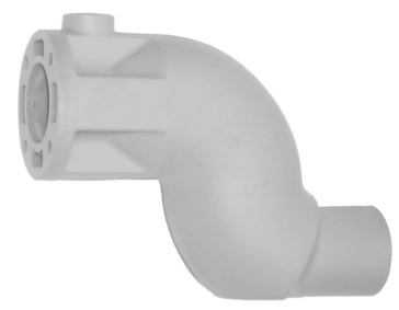 """SIERRA Exhaust Elbow w/ 3"""" outlet"""