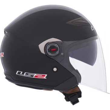 Solid LS2 Track OF569 Open-Face Helmet
