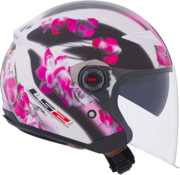 Casque Ouvert OF569 Track LS2 Floral