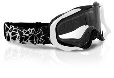 Black, White CKX Falcon Goggles, Summer