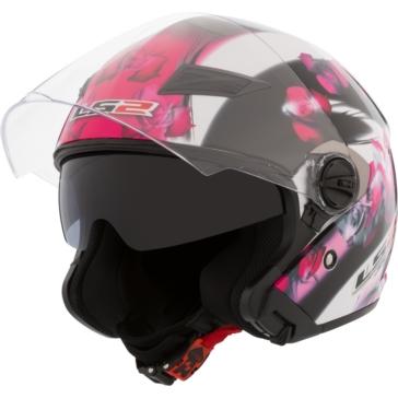 LS2 Track Open-Face Helmet Floral
