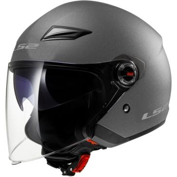 LS2 Track Open-Face Helmet Steel