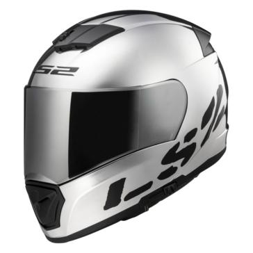 Chrome LS2 Breaker FF390 Full-Face Helmet
