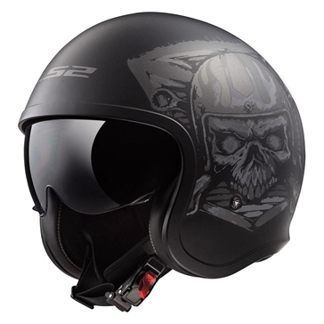 LS2 Spitfire Open-Face Helmet Inky