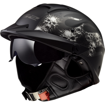 LS2 Demi-Casque Rebellion Bones