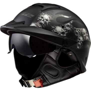 LS2 Rebellion Half Helmet Bones