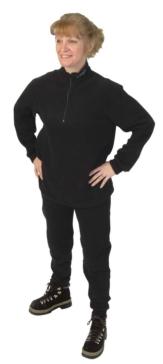 Sous-vêtement, ensemble en polar CKX Deux pièces - Femme - Couleur unie