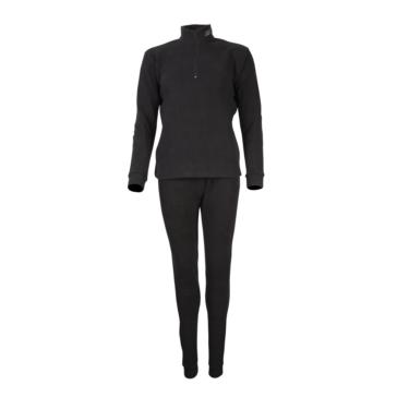 Sous-vêtement, ensemble en polar CKX Deux pièces - Femme - Couleur unie - Noir