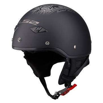LS2 Bagger Half Helmet Hard Luck