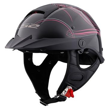 LS2 Rebellion Half Helmet Wheel Wings
