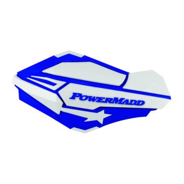 POWERMADD Protège-main Sentinel, Bleu/Blanc