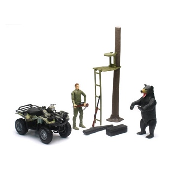 NEW RAY TOYS Hunt Edition with ATV & UTV Scale Model