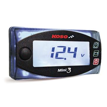 KOSO MINI 3 Clock & Volt Meter