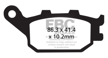 EBC  V-Pad Brake Pad Semi Metallic - Rear