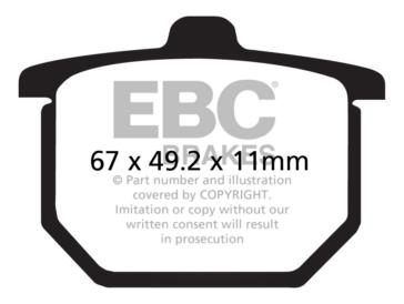EBC  Plaquette de frein V-Pad Semi métallique - Arrière