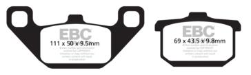 EBC  V-Pad Brake Pad Semi Metallic - Front/Rear