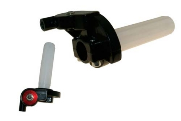 OUTSIDE DISTRIBUTING Motorcycle Twist Throttle - Billet Dual Cable