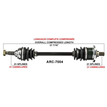 TrakMotive Complete Axle Arctic cat