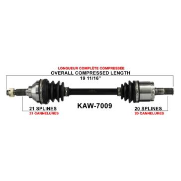 Kawasaki TRAK MOTIVE Surtrack Complete Axle for  ATV/UTV
