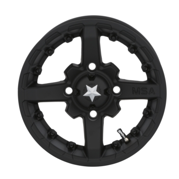 MSA WHEELS M23 Battle Matte Black Wheel 14x7 - 4/156 - 10 mm