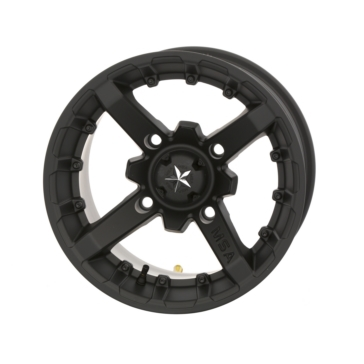 MSA WHEELS M23 Battle Matte Black Wheel 14x10 - 4/137 - 0 mm