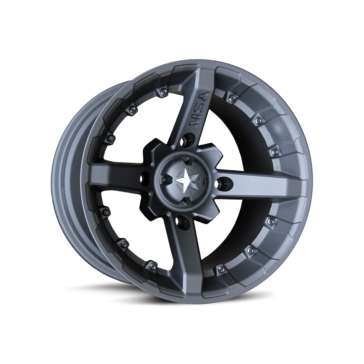 MSA WHEELS M23 Battle Matte Black Wheel 4/110 - 12x7 - -47 mm