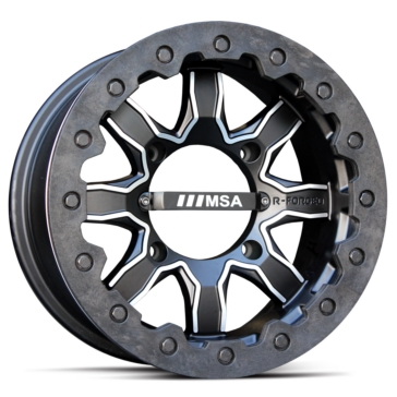 MSA WHEELS R-Forged F1 (Beadlock) Wheel 14x7 - 4/137 - 0 mm