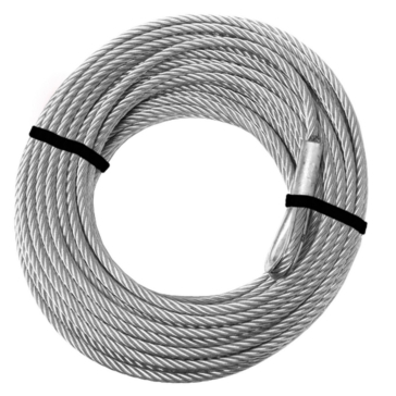 2500 lbs to 3500 lbs - 46' KFI PRODUCTS 2500-3500 lb. Winch Cable