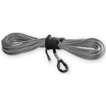 7700 lbs - 38' KFI PRODUCTS Smoke Synthetic ATV Winch Cable