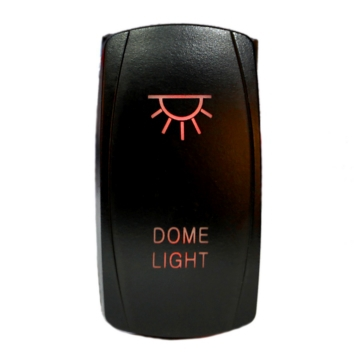 QUAKE LED Dome LED Switch Rocker - QRS-DL-R