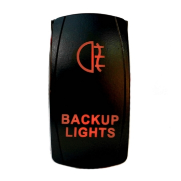 QUAKE LED Backup LED Switch Rocker - QRS-BL-R