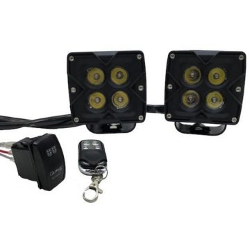QUAKE LED Seismic Light Spot Square Series Black