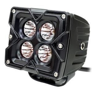 Projecteur de lumière Seismic QUAKE LED Noir