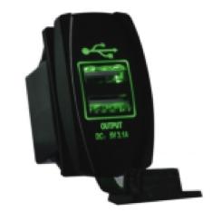 QUAKE LED USB Mount LED Switch Rocker - 222552